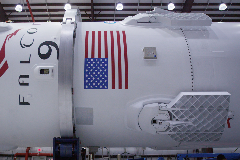 spacex heavy fairing recovery - 990×660